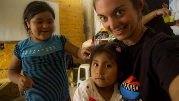 A Photo of Julie and her mission in Peru